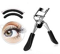 Snifu まつ毛カーラー アイラッシュカーラー 人気 ビューラー 睫毛 メイク工具 替えゴム 2個付き ステンレス製 携帯便利 ピンク