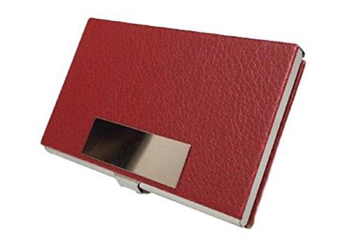 [ルビタス] レザー カード ケース 名刺 入れ ホルダー 皮 革 めいし たくさん 入る ビジネス メンズ (四角型 茶)