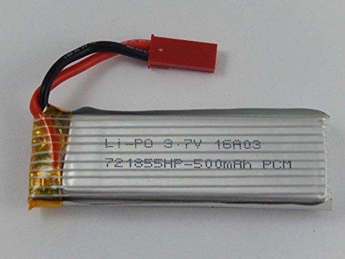 vhbw Li-Polymer Akku 500mAh (3.7V) für Drohne Multicopter Quadrocopter UDI U817, U817A, U817C, U818, U818A wie Revell 751860.