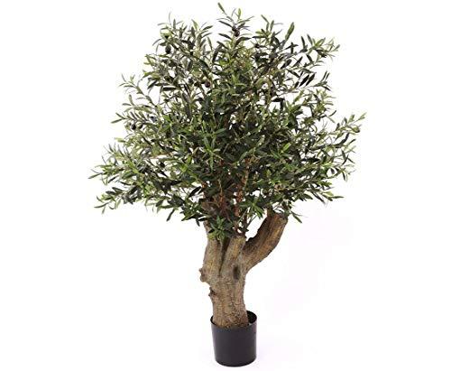 kunstpflanzen-discount.com Künstlicher Olivenbaum mit dickem Stamm Höhe ca. 140cm und 42 Oliven