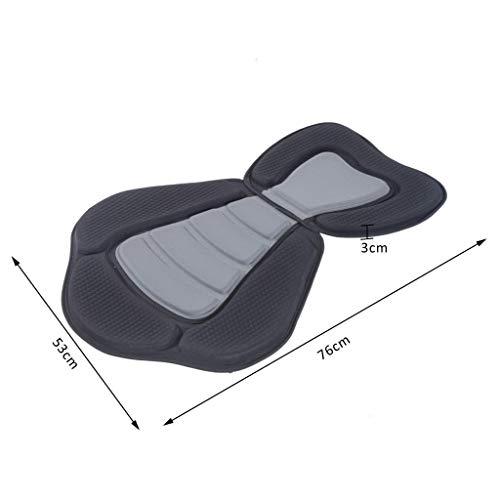 without brand Sit On Top Boat Canoa Kayak Sedile con Schienale Alto Resto Staccabile Supporto Nero (Colore : 1)