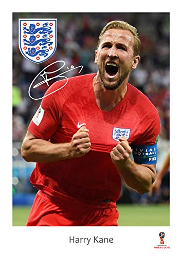 Harry Kane England Poster #31 - World Cup 2018 England Poster - Action Shot - Russia 2018 England Poster/Wall Art/Print