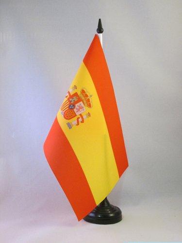 AZ FLAG Bandera de Mesa de ESPAÑA 21x14cm - BANDERINA de DESPACHO ESPAÑOLA 14 x 21 cm