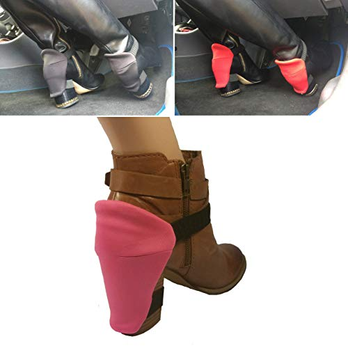 Skurrile rosa Winterstiefel-Fersenschoner für Damen zum Einfahren für abriebfreie Blockabsätze und Schuhe/Kratzschutz beim Fahren/Schneller als das Wechseln Ihrer Stiefel zu einem Paar aus Drive