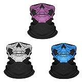 Yongbest Mascara de Calavera,3 Piezas Pasamontañas de Calavera Skull Mask para Ciclismo,Senderismo,Camping,Esquí,