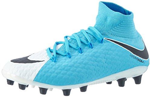 Nike Herren Hypervenom Phatal III DF AG-Pro Fußballschuhe, Blau (White/Black-Photo Blue-Chlorine Blue), 41 EU