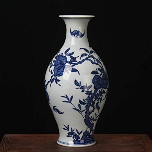 N Vase Couchtisch Ancient Chinese Palace Ornaments Blumenvasen Keramik Weiß Vase Große Boden Schöne Blumen Porzellanvasen Schmuck lalay