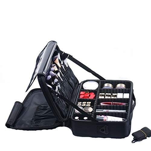 Cosmetic Bag, Cosmetic Storage case, Portable partition, Portable Three-Layer Waterproof Home Essential Travel Cosmetic Bag (37*26*13cm)