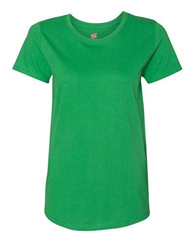 Hanes Womens 5.2 oz. ComfortSoft Cotton T-Shirt (5680) Shamrock Green m