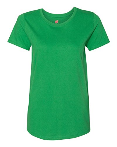 Hanes Womens 5.2 oz. ComfortSoft Cotton T-Shirt (5680) Shamrock Green l