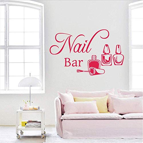 Nail Bar Wall Sticker Manicure Polish Mural Vinyl Wall Decal Nails Beauty Salon Home Decoration Bedroom Livingroom Decor 42X67Cm