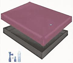 SANCTUARY FREE FLOW WATERBED MATTRESS STAND UP SAFETY LINER Blue Magic Fill and Drain Kit with Conditioner