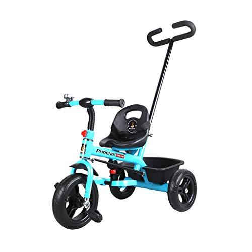 GYF Triciclo de 1 año para cochecito de bebé, pedal de bicicleta, niños y niñas, cochecito de 2 – 3 – 5 años, para hombres y mujeres, juguete de exterior, triciclo multifuncional