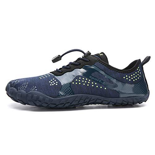 LFLDZ Frauen der Männer Wasser Schuhe, Schnell trocknend Aqua Schuhe Leichte Durable Barefoot Wasserschuhe, für Schwimmbad Segeln Surfen Tauchen Yoga (35-46),Blau,39