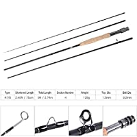 耐久性のあるフィッシュ ロッド 折りたたみ可能なフィッシュ ロッド 釣り用淡水魚用高品質(#7/8)