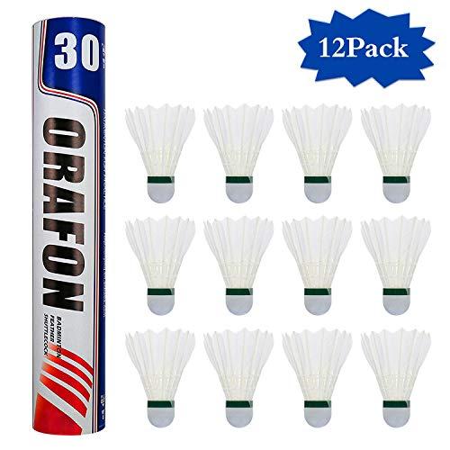 Confezione da 12 volani da badminton con piume doca bianche ad alta stabilit/à e durata YANYU ad alta velocit/à modello 960