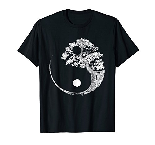 Yin Yang Bonsai Tree Japanese Buddhist Zen T-Shirt