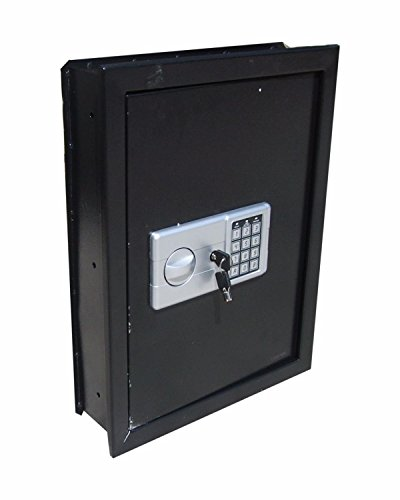 Safe Flat Recessed Wall Hidden Digital Electronic Box Gun Jewelry Cash Security 03 0 8cf Home Lock Black Floor Solid