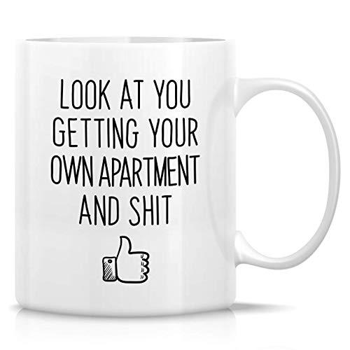 330ml Tazas de té Tazas para espresso Mírate obteniendo tu propio apartamento propietario inauguración casa Taza bebida café Regalo Vajilla de Agua/Leche para Hogar,Oficina