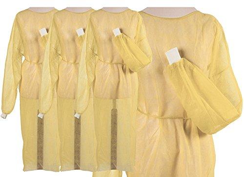 Vlieskittel gelb mit extra Bündchen 100 (10x10) Stück ca. 125 x 145 cm Schutz Einmal Einweg Kittel Tiga Easy grün Vlies