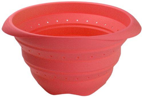 Lékué - Scolapasta pieghevole in silicone 18 cm, colore: Rosso