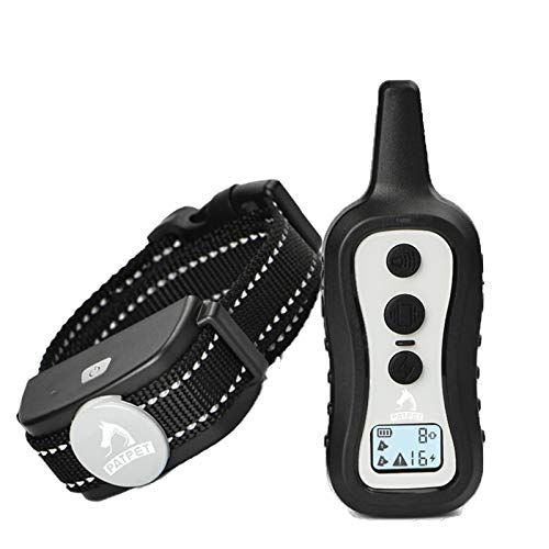 PATPET Dog Training Collar with Remote -W/3 Training Modes, Beep, Vibration & Shock, up to 1000' Remote Range, Water Resistant No Harm Dog Shock Collar for Small Medium Large Dogs