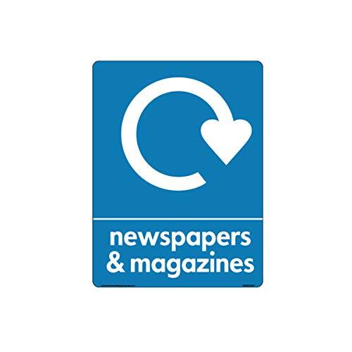 WRAP - Señal reciclaje periódicos revistas logotipo