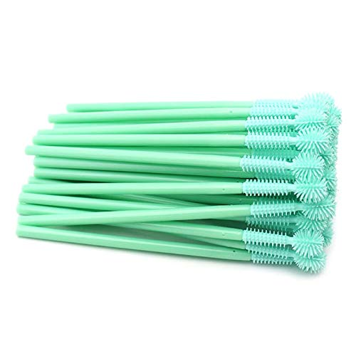 BLEUNUIT Siliconen wimper borstel,50 stuks wegwerp siliconen wimper borstel kam Mascara Wand Applicator make-up Tool