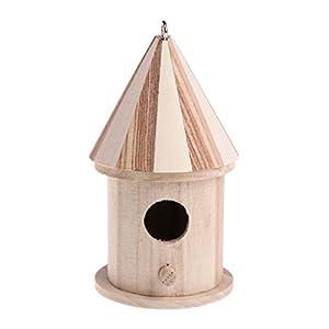 XTYaa Wooden Nesting Nest Box Bird Cage House Small Birds Blue Tit Wren
