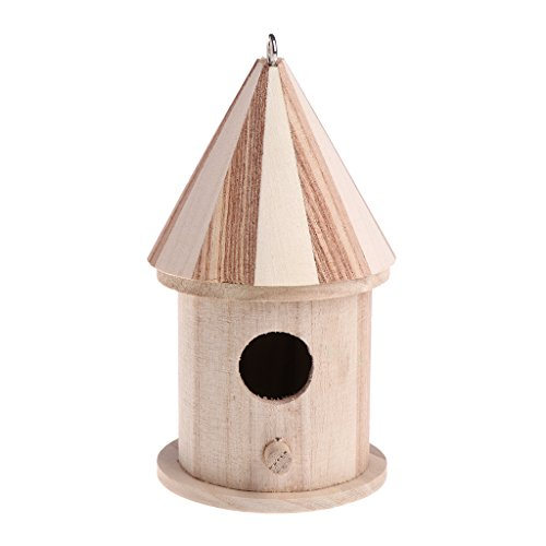 Faguo Wooden Nesting Nest Box Bird Cage House Small Birds Blue Tit Wren