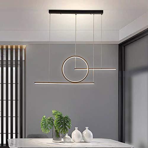 Luces Colgantes LED Modernas LáMpara de ArañA Simplicity Nordic Black Candelabros DT para LáMpara de Luz de Sala de Estar Luces de Techo Regulables LáMpara de LíNea de DecoracióN (negro)