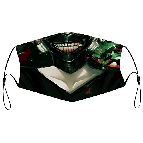 best& Tokyo Ghoul Mascarilla facial hombres mujeres niños adolescentes impresión cómoda lavable reutilizable nariz - cubierta para cosplay