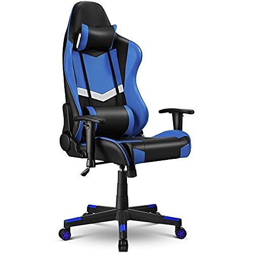 Sedia Gaming Sedia da Ufficio, Ergonomica Regolabile, Sedia da Gioco con Rotelle Silenzios Girevole...