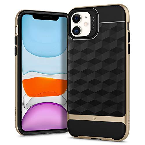 Hülleology Parallax Kompatibel mit iPhone 11 Hülle, Gold 3D Muster Schutzschicht Stoßfest Hülle, Handyhülle iPhone 11 (Gold)