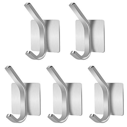 N/U 5 potentes ganchos de viscosa creativos para abrigos, ganchos perforados, colgar en la pared, ventosas sin marcas de carga, ganchos de cocina, ganchos de pared para baños y cocinas