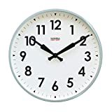 Cloudnola Station Metal Wall Clock with Numbers, Sage Grey, 18 inch Diameter, Modern Silent Wall Clock Without Ticking, Battery Operated