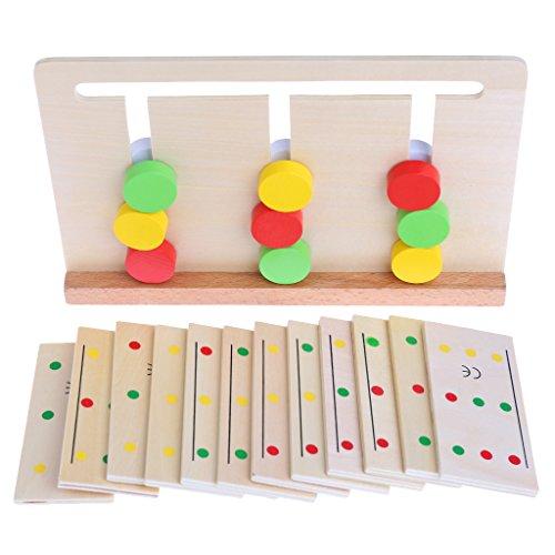 JAGENIE Montessori sensorisches Material, Farbsortierspiel, pädagogisches Spielzeug für Kinder