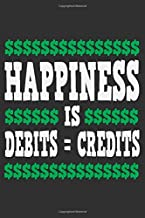 Happiness Is Debits = Credits: Debits and credits, accounting gifts for coworkers, accountant book, accountant gifts 6x9 Journal Gift Notebook with 125 Lined Pages