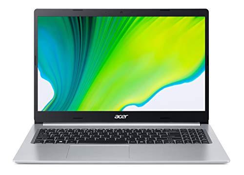 Acer Aspire 5 A515-54-P1VY Computer portatile Argento 39,6 cm (15.6') 1920 x 1080 Pixel Intel Pentium Gold 8 GB DDR4 256 GB SSD Wi-Fi 6, Windows 10 Home S , TASTIERA TEDESCA