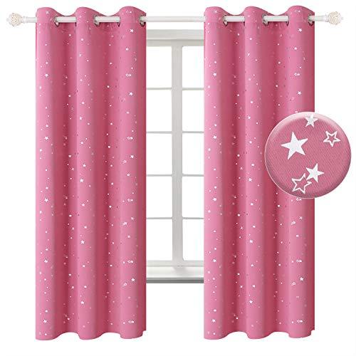 cortinas rosas niña unicornio