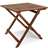 cucunu 27x27 Inch Adirondack Side Table in Acacia Wood I Square Folding Patio Side Table Multifunctional and Portable I Indoor or Outdoor End Table