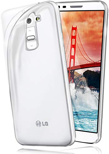 MoEx Cover Trasparente Compatibile con LG G2 | Anti-Scivolo ed Extra Sottile, Trasparente