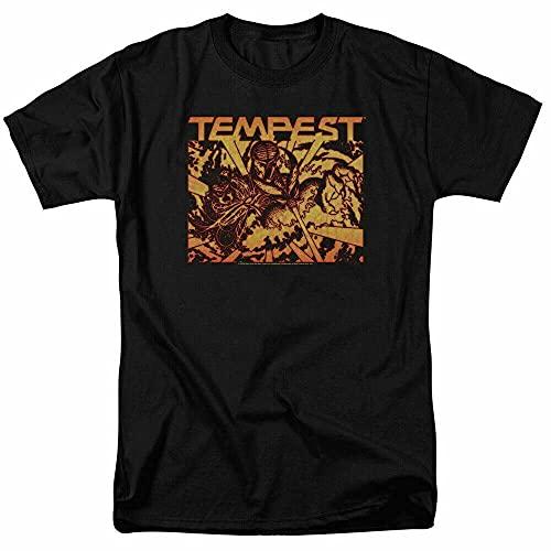Atari Demon Reach T Shirt Mens Classic Video Game Tee Tempest Black Black L