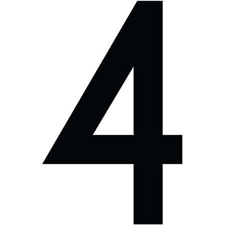 Zahlenaufkleber Nummer 4 Schwarz 10cm 100mm Hoch Aufkleber Mit Zahlen In Vielen Farben Höhen Wetterfest Küche Haushalt
