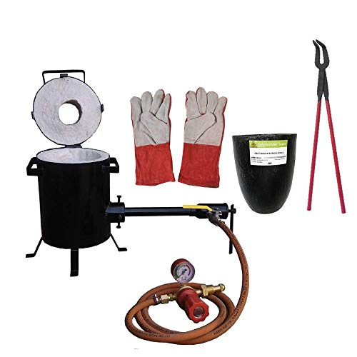 5 Kg Propane Melting Furnace Kit with Clay Graphite Foundry Crucible 18