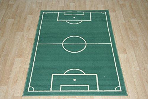 HANSE Home Fussballteppich Fussballplatz Spielfeld Fussballfeld Teppich Rasenplatz 120 x 170 cm Kinderteppich Spielteppich für jeden Fussballfan ideal auch für den Hobbykeller