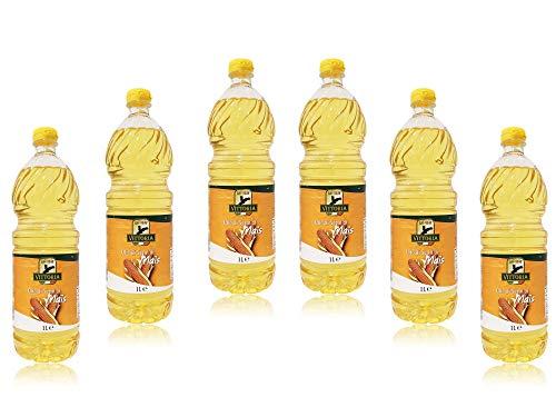 Olio di Semi di Mais 'Vittoria' - 100% ITALIANO - Made in Italy - Bottiglia Pet da 1 Litro 1lt 1000ml - 6 Pezzi