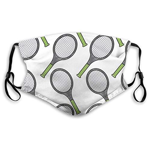 fenrris65 - Raqueta de tenis para adultos, patrón deportivo, bandana, cara, cuello, bufanda, polvo, transpirable, a prueba de viento, pesca, senderismo, correr, ciclismo