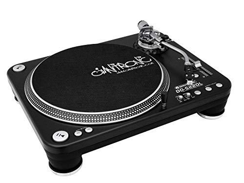 Omnitronic DD-5220L draaitafel zwart | Directe aandrijving DJ-platenspeler