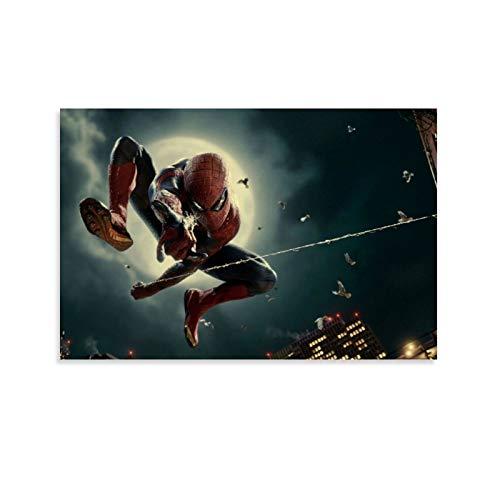 DRAGON VINES Spiderman, Peter Parker, toile araignée en soie, moderne, contemporaine, minimaliste, moderne, décoration de chambre à coucher, salon 30 x 45 cm